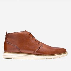 Cole Haan vachetta leather chukka woodbury-ivory